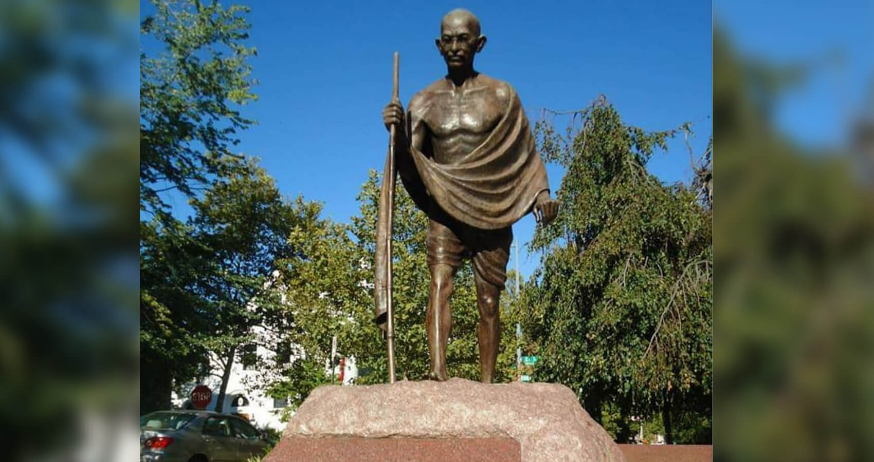 Mahatma Gandhi Statue at the Indian Embassy in Washington Vandalized