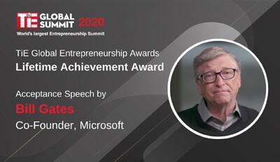TiE Global Awards Bill Gates With Lifetime Achievement Award