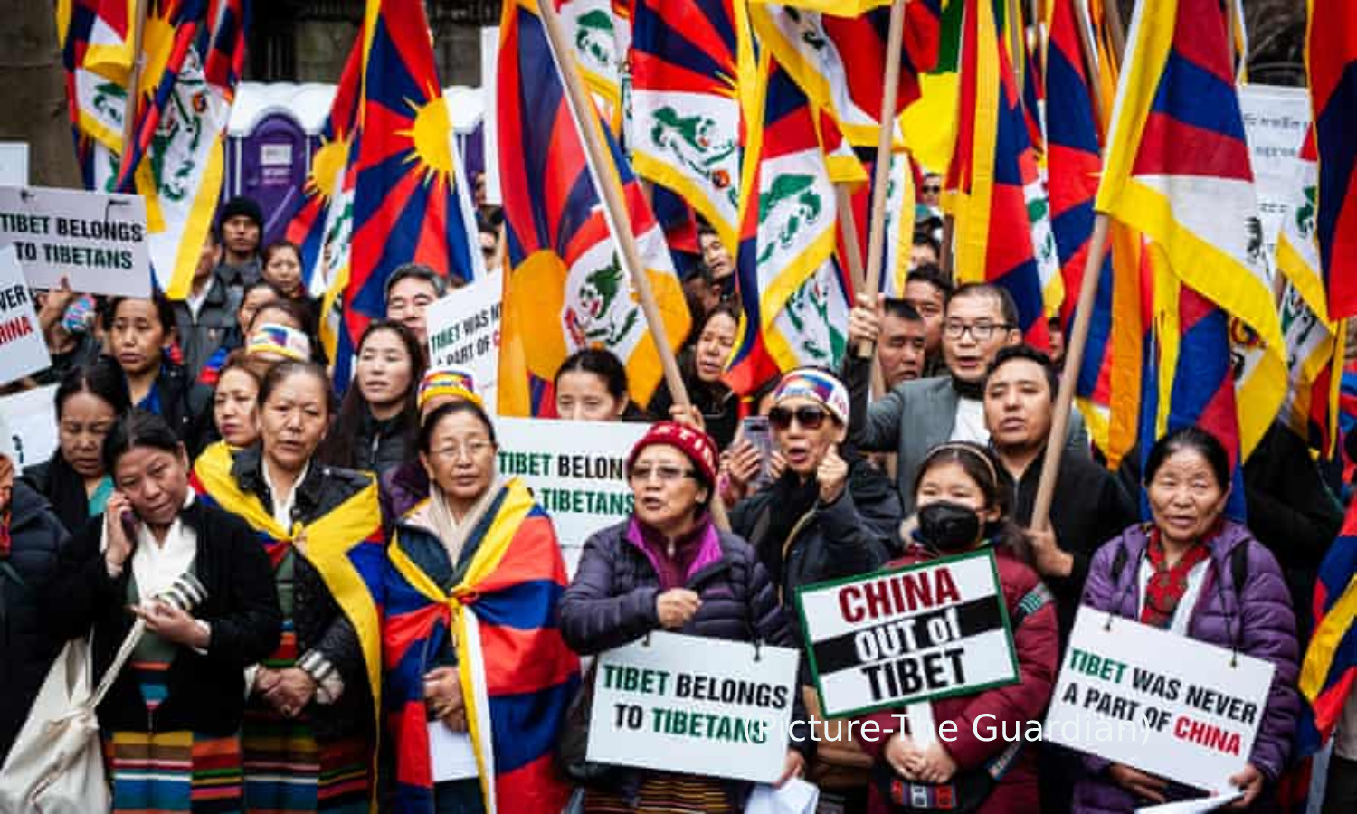 On 9th Annual Tibetan Independence Day A Protest Against Chinese Occupation Outside The Chinese Consulate In New York