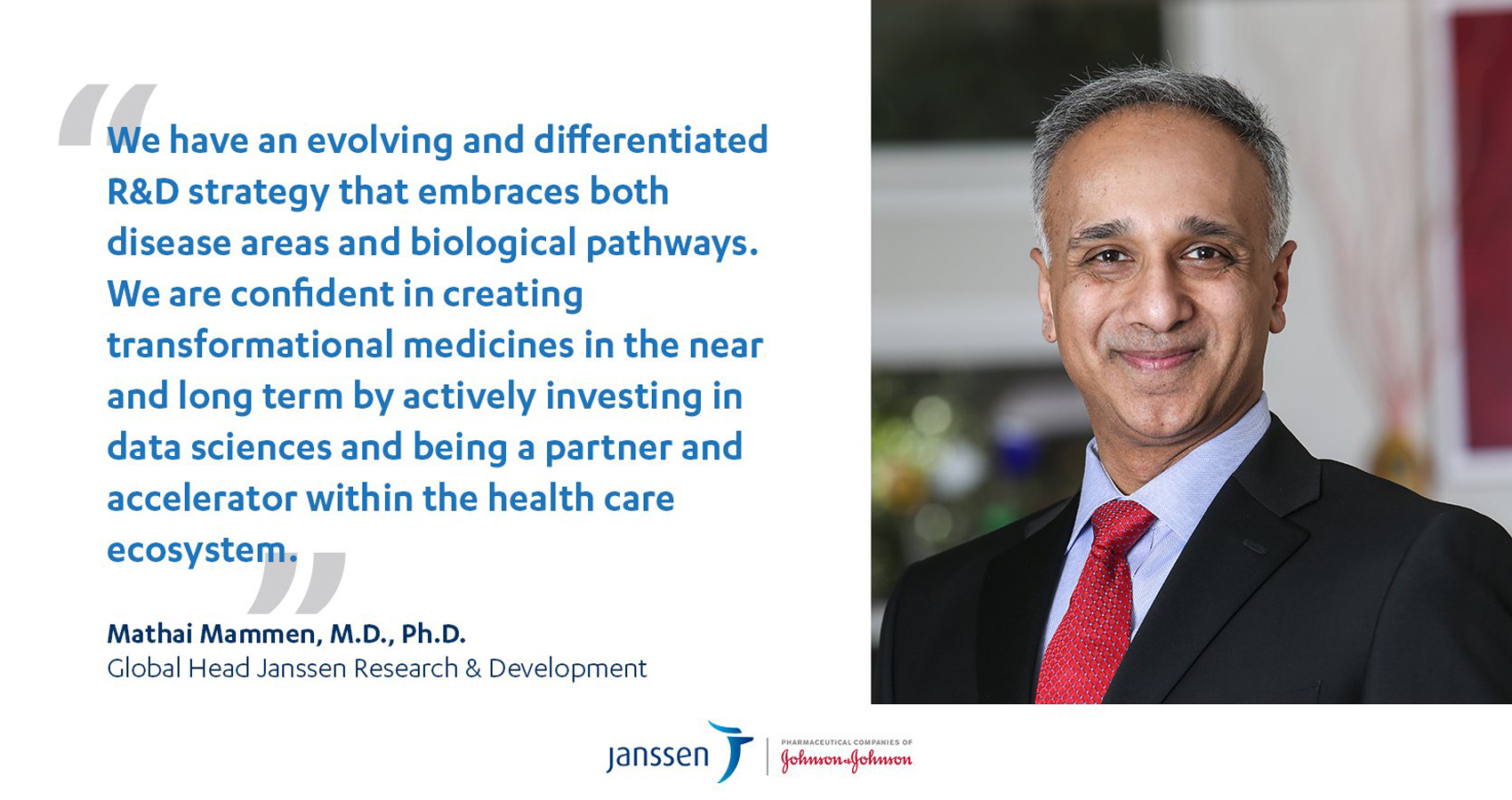 Dr. Mathai Mammen, J&J's Global Head Of Research And Development, Is Confident Of Its Covid Vaccine