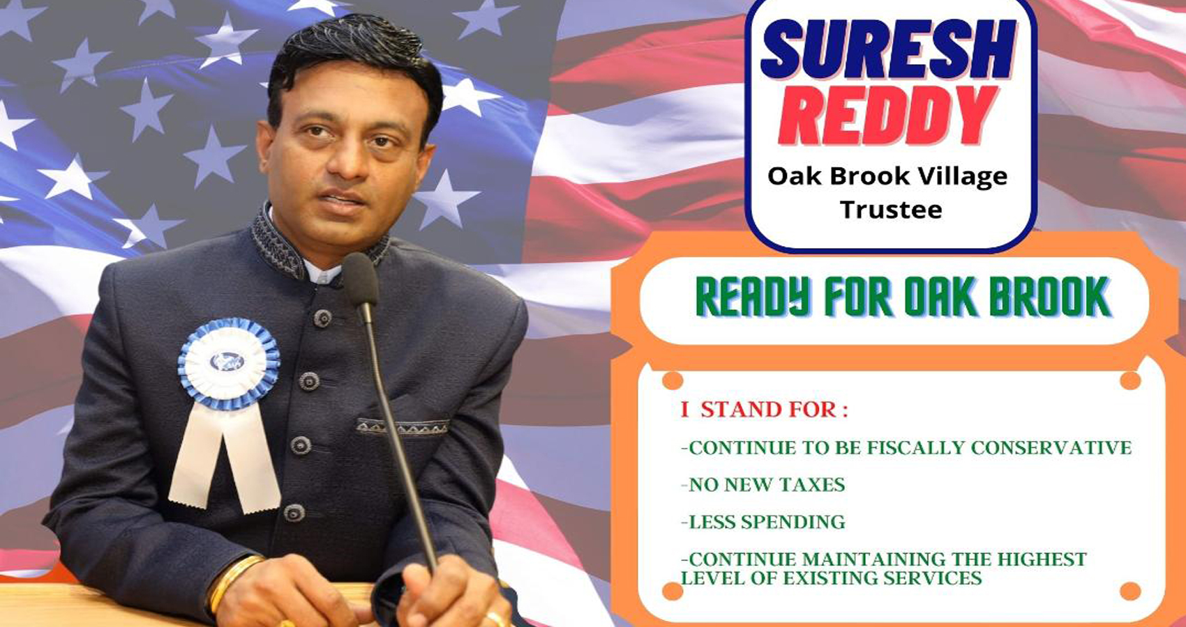 Dr. Suresh Reddy Runs For Office As Trustee of Oak Brook, IL