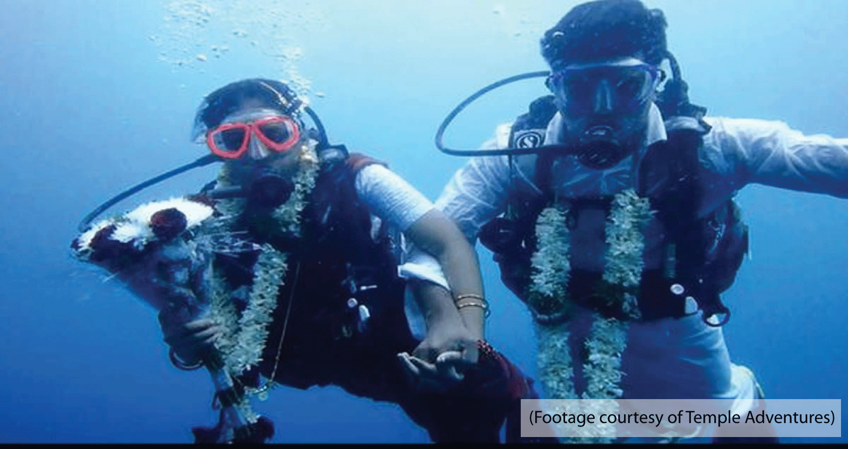 Indian Couple Takes The Plunge To Marry Underwater