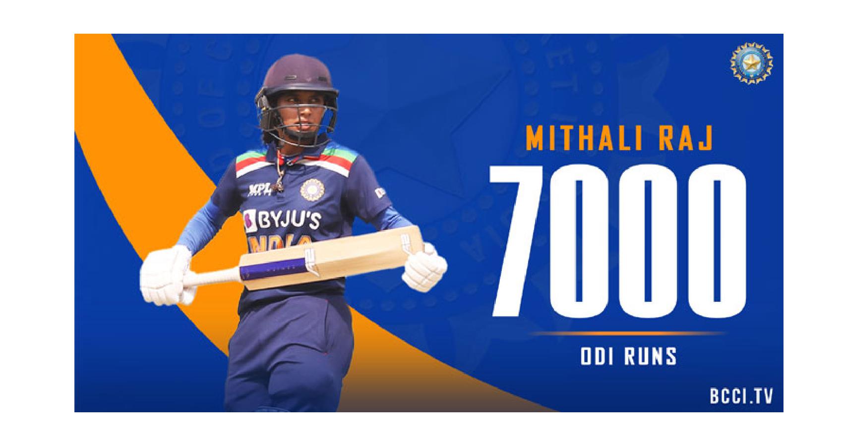 Mithali Raj, 1st Woman Cricketer To Complete 7,000 ODI Runs