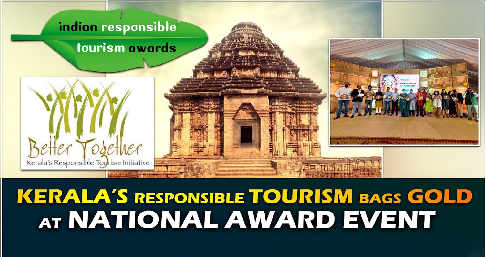 Kerala Bags Gold at the Indian Responsible Tourism Awards