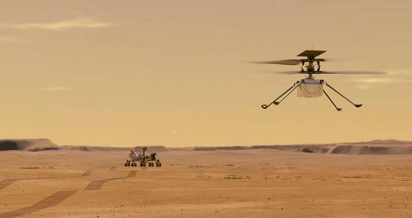 NASA's Mars Helicopter Completes First Flight on Another Planet