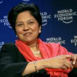 Indra Nooyi Relates Her own story to evolving global economy