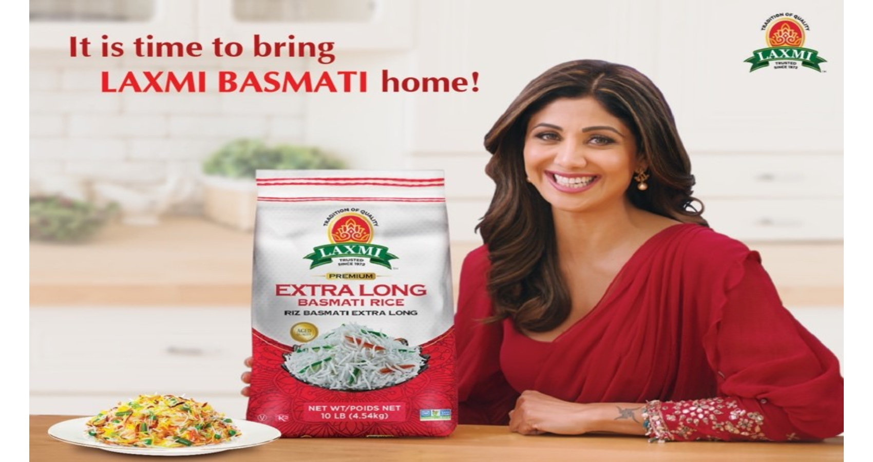 Bollywood Superstar And Fitness Icon Shilpa Shetty Kundra Is The New Face Of U.S. Based South Asian Food Brand, LAXMI!