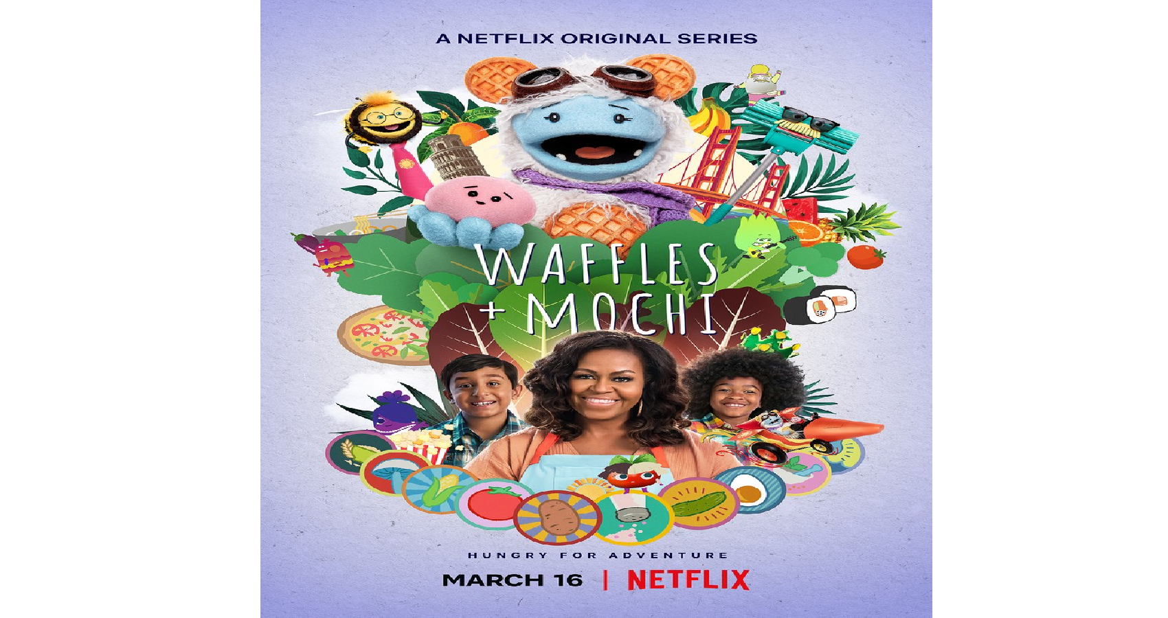 Michelle Obama With Puppets Showcases 'Waffles + Mochi' On Netflix, Taking Kids to Japan, Italy, and More