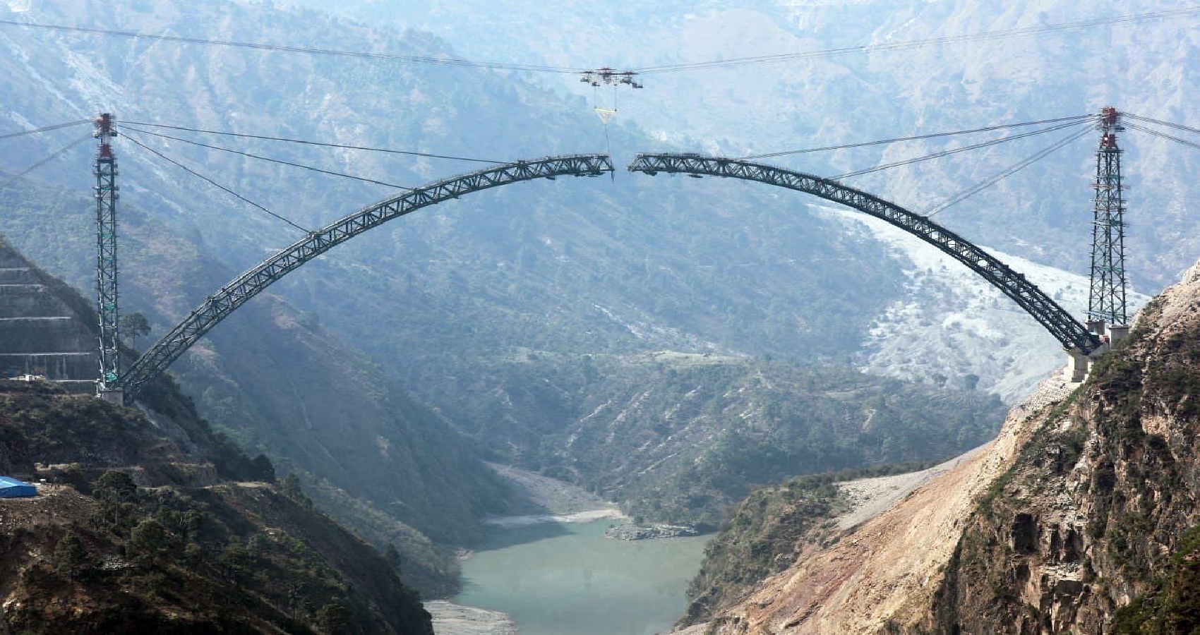 Indian Railways Completes Arch Closure Of Chenab Bridge, World's Highest Rail Bridge