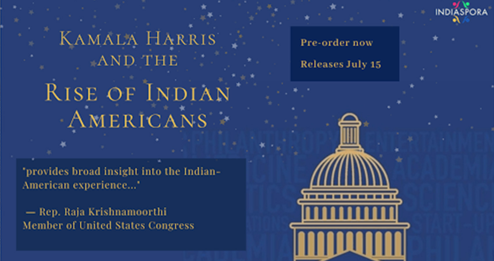 """Indiaspora Launches New Book, """"Kamala Harris And The Rise Of Indian-Americans"""""""