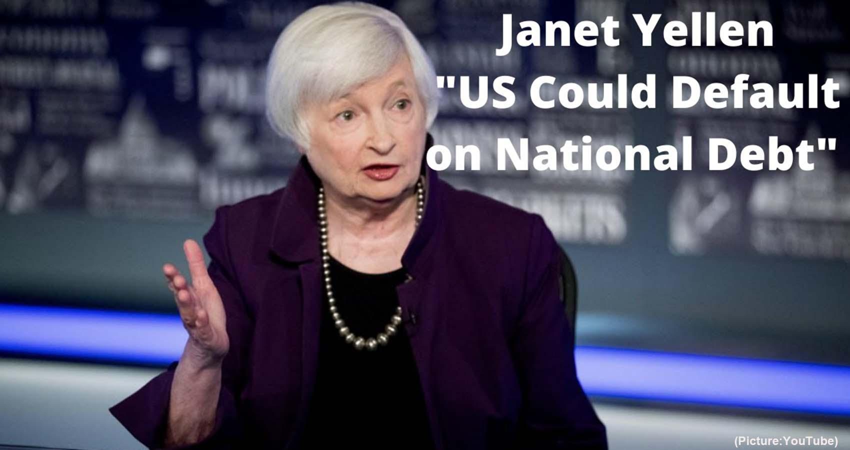 Janet Yellen Warns, US Could Default On National Debt In October